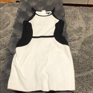 Black and Cream Dress